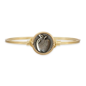 Apple Teacher Bangle Bracelet Brass 7.0