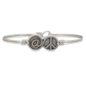 At Peace Bangle Silver 7.5