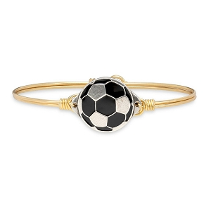 Soccer Ball Bangle Bracelet Brass 7.0