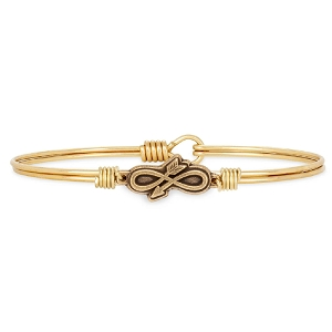 Embrace the Journey Bangle Bracelet Brass 7.5