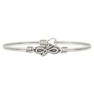 Embrace the Journey Bangle Bracelet Silver 7.0