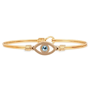 Evil Eye Bangle Bracelet Brass 7.5