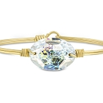 Ophelia Bangle Bracelet in White Patina Brass 7.0