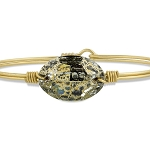 Ophelia Bangle Bracelet in Gold Patina Brass 7.0
