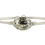 Ophelia Bangle Bracelet in Gold Patina Silver 7.0
