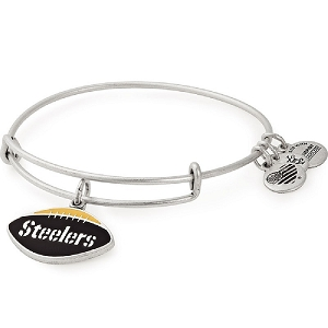 Pittsburgh Steelers Football Color Infusion Charm Bangle Silver