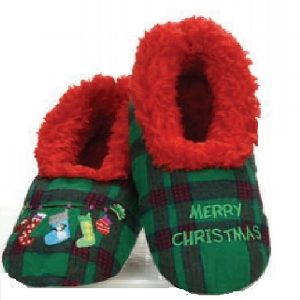 Kids Ugly Christmas Merry Christmas Slippers Large 4-5