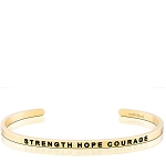 Strength Hope Courage Gold