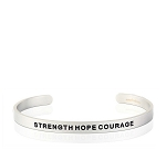 Mens Strength Hope Courage Silver