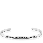 Strength Hope Courage Silver