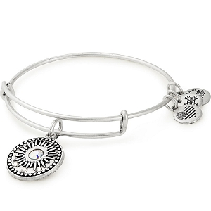 Midnight Sun Charm Bangle Silver