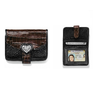 Bellissimo Heart Small Wallet Black Chocolate T10399