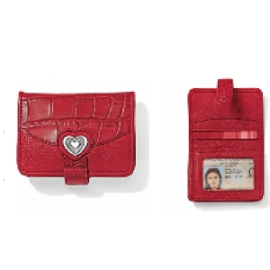 Bellissimo Heart Small Wallet Lipstick Red T1039L