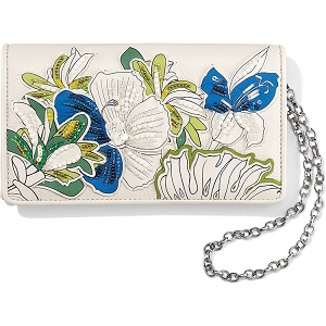 Crystal Pond Clutch Wallet White Multi T34932