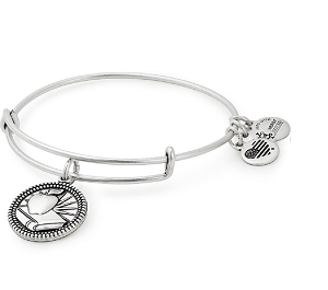 Teacher Charm Bangle Silver