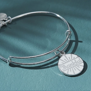 Today is a Gift Charm Bangle Silver