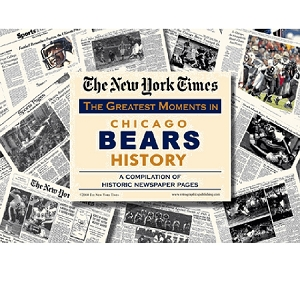 Chicago Bears New York Times Historic Newspaper Compilation