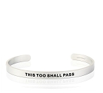 Mens This Too Shall Pass Silver