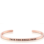 This Too Shall Pass Rose Gold