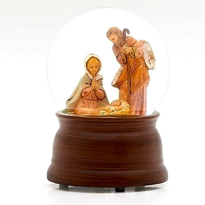 Roman Holy Family Snow Globe 59100