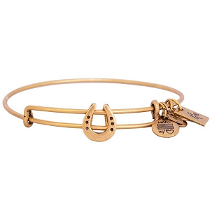 Horseshoe Charm Bangle Rafaelian Gold