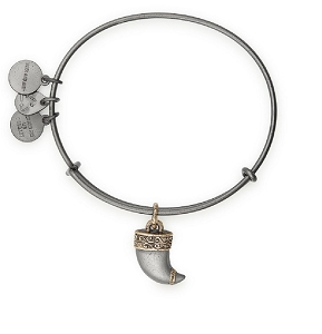 Tiger's Claw Two Tone Charm Bangle