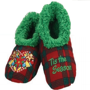 Kids Ugly Christmas Tis The Season Slippers Large 4-5