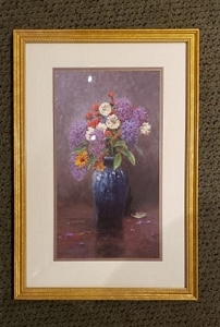 Thomas Kinkade Lilac Bouquet 20 x 13 1/2
