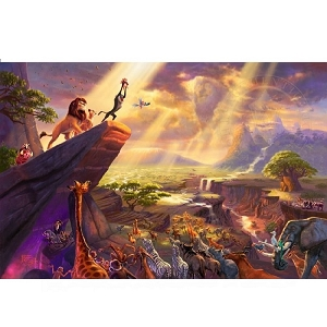 Thomas Kinkade Lion King 18 x 27 S/N  # 1 / 1195