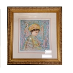 Edna Hibel Boy With Turbin VIII # 35/41  Framed