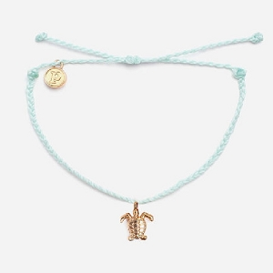 Turtle Bracelet Gold Sea Foam Green