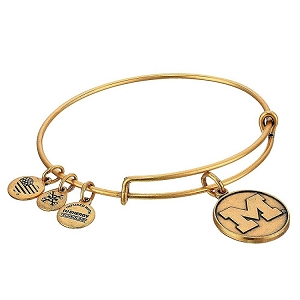 University of Michigan Charm Bangle Rafaelian Gold