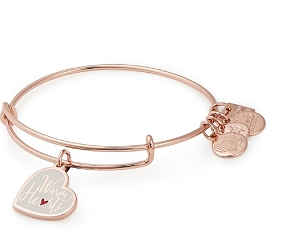Warm Hearts Charm Bangle Rose Gold