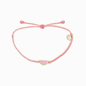 Watermelon Bracelet Gold Pink