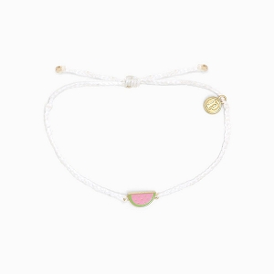 Watermelon Bracelet Gold White