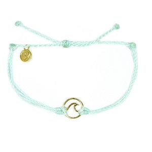 Wave Charm Gold Seafoam