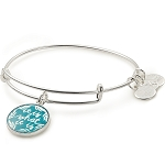 It Is What It Is Charm Bangle Shiny Silver