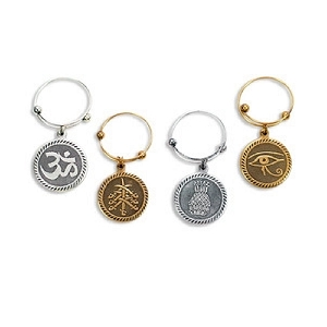 Spiritual Journey Wine Charms Set of 4