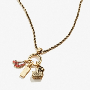 Wizard of Oz Dorothy Adjustable Trio Charm Necklace Rafaelian Gold