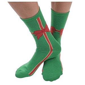 Women's Ugly Christmas Holiday Socks Bow Ho Ho