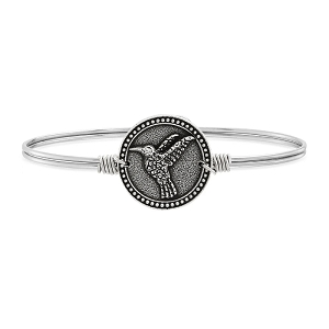 Hummingbird Bangle Bracelet Silver 7.0