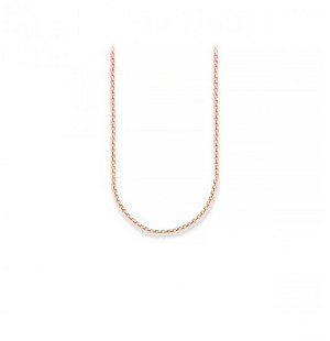 18ct Rose Gold Plated Ribbon Chain Necklace KE1106-415-12 50cm