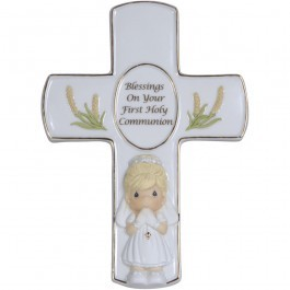 Precious Moments First Holy Communion Girl Cross 123408