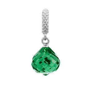 Endless Mysterious Drop Silver Emerald Charm 1301-5