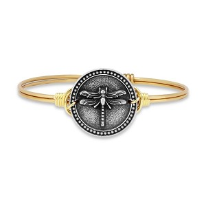 Dragonfly Bangle Brass 7.0
