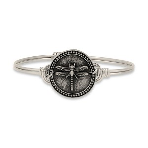 Dragonfly Bangle Silver 7.0