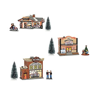 Harley Davidson Village Set of 6