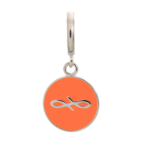 Endless Coin Coral Sterling Silver Charm 43307-1
