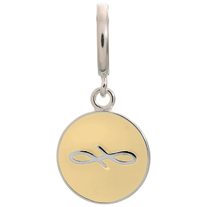 Endless Coin Cream Sterling Silver Charm 43307-3