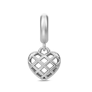 Christmas Heart Drop Silver 43441
